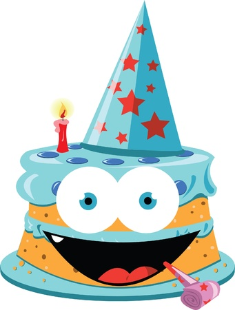 a vector cartoon representing a funny party cake  Stock Vector - 21792777