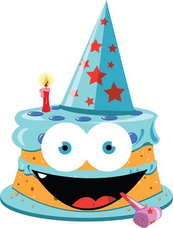 a vector cartoon representing a funny party cake Stock Vector - 21792777