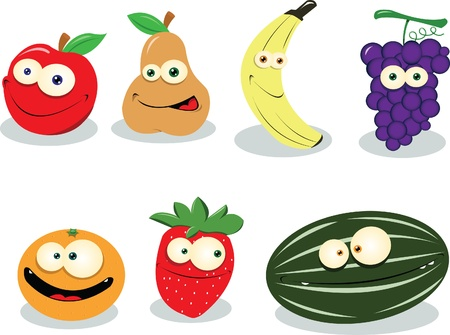Some funny fruit isolated on white Stock Vector - 21943008