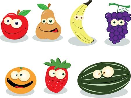 Un poco de fruta divertida aislados en blanco Foto de archivo - 21943008