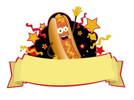 sausage dog: Funny Hot dog banner