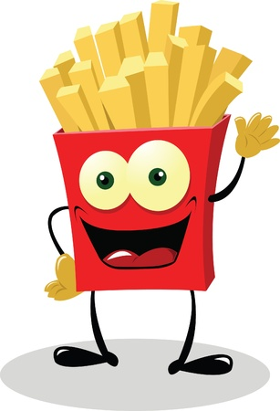French Fries saying hello Stock Vector - 21960104