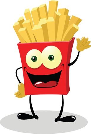 prepared potato: French Fries saying hello