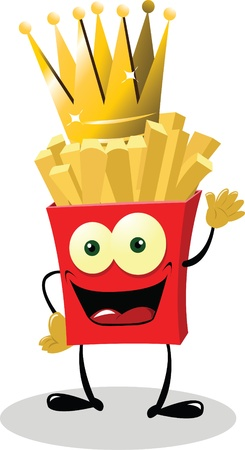 French Fries King Stock Vector - 21960947