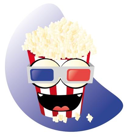 popped: funny pop corn 3D Illustration