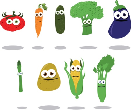Funny Vegetables Stock Vector - 22095966
