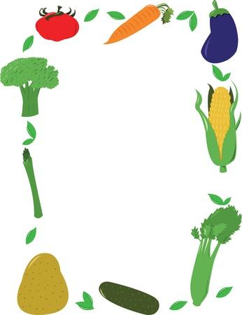 healty lifestyle: Vegetables Frame