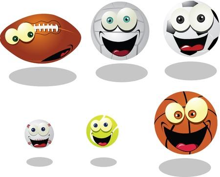 Funny Balls Stock Vector - 22095973