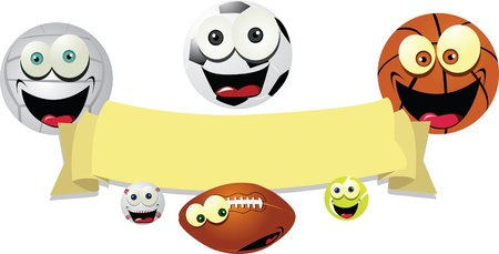 Funny Balls Banner Stock Vector - 22095980