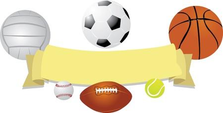 Balls Banner Vector