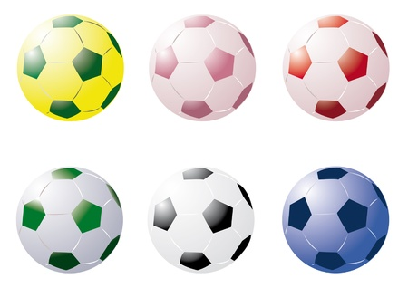 Coloured Soccer Balls Stock Vector - 22095975