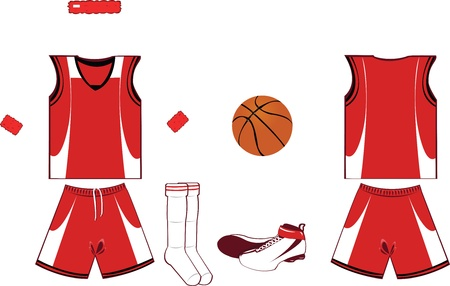 Basket Player Equipment Stock Vector - 22095981