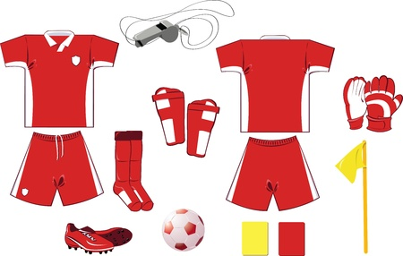 Complete Soccer set Stock Vector - 22096138