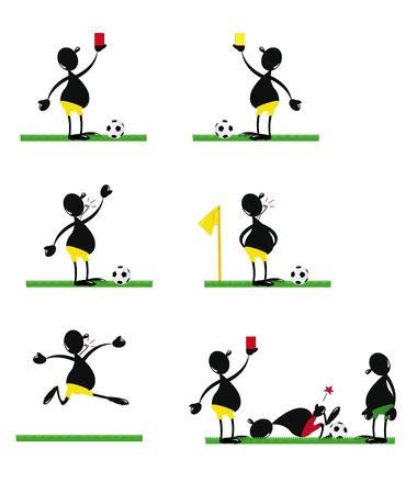 Funny Soccer Referee Stock Vector - 22067880