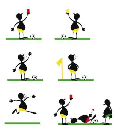 soccer referee: Funny Soccer Referee Illustration