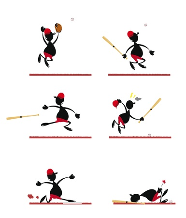 Funny Baseball Player Stock Vector - 22067881