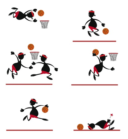 Funny Basket Player Stock Vector - 22067882