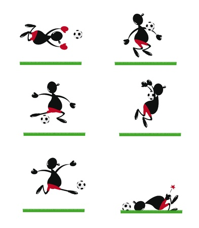 Funny Soccer Player Stock Vector - 22067884