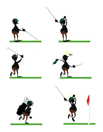 Funny Golf Player Stock Vector - 22067885