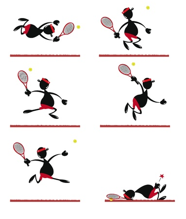 Funny Tennis Player Illustration