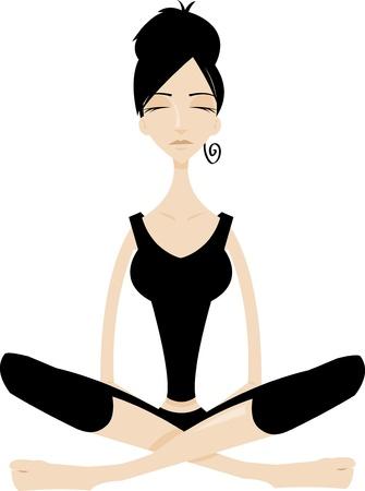 chi: Tai chi Mujer meditading