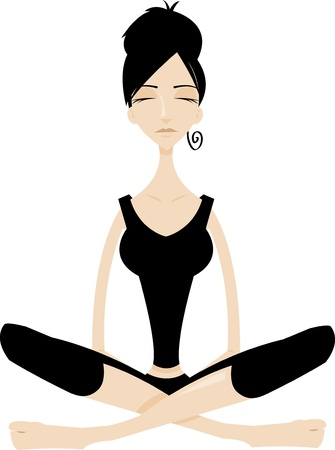 Tai chi woman meditading Stock Vector - 22067963