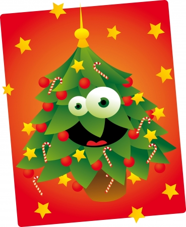 Cute Christmas Tree Stock Vector - 22067978
