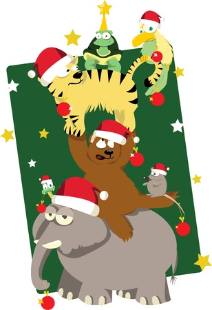 Animals  Christmas tree Stock Vector - 22060252