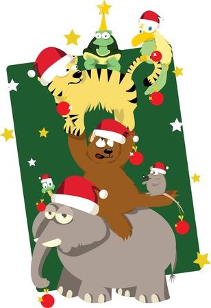 Animals  Christmas tree Stock Vector - 22060252