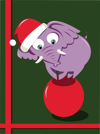 Christmas Elephant Stock Vector - 22060253