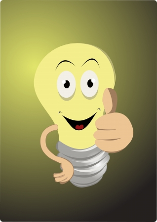 friendly lightbulb Vector