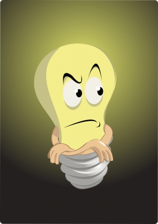 light bulb in troubles Stock Vector - 22007669