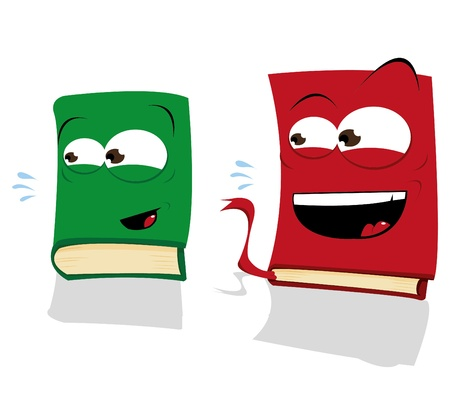 Two Laughing Books Stock Vector - 22007699