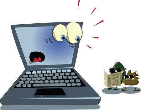 Spyware Viruses Stock Vector - 22008291