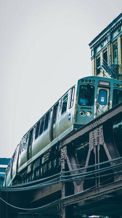 Chicago L Train 写真素材
