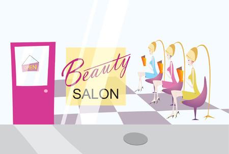 salon beaut�: vue de salon de beaut�