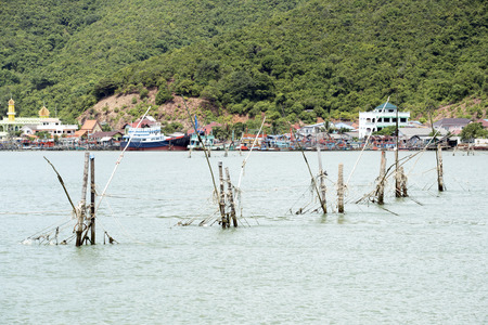 wastrel: Fishing gear used to catch fish  the sea