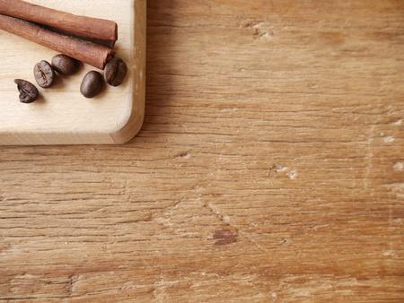 cinnamon stick: Cinnamon stick and coffee beand