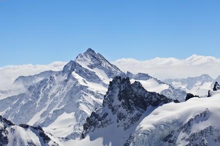 Winter landschap in de Matterhorn Stockfoto