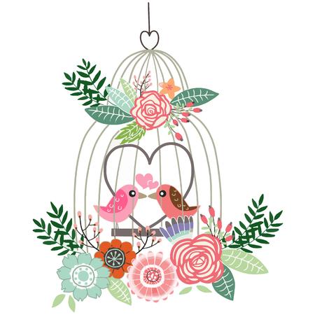 Couples of Bird lover illustration vector 向量圖像