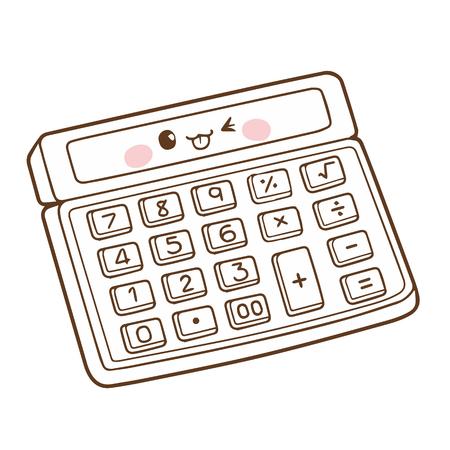 Cute Calculator cartoon character vector design