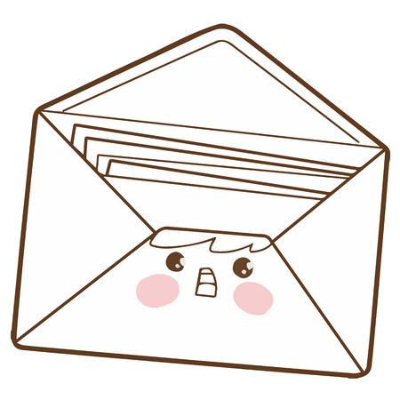 Cute envelope cartoon character vector design