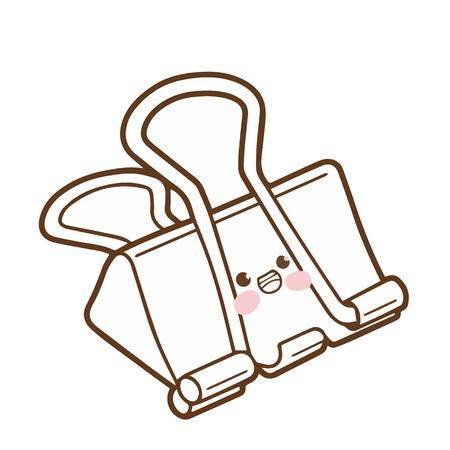 Cute clip cartoon character vector design