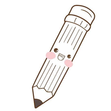 Cute pen marker cartoon character vector design 向量圖像
