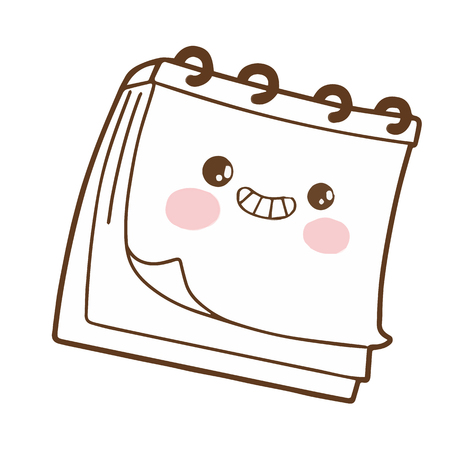 Cute notebook cartoon character vector design 向量圖像