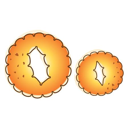 Biscuit cookie alphabet a-z vector design