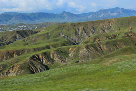 valley slopes of the green hills of the crimean