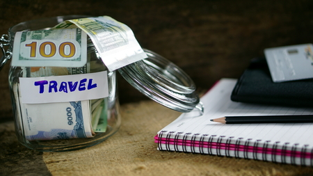 US dollars, Korean Won, Euro bills and some money bills and banknotes. Currency foreign exchange. Business and Financial or money management for investments. Reklamní fotografie