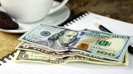 US dollars bills. Business and Financial or money management for investments. Reklamní fotografie