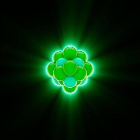 3D render uit een groene kern